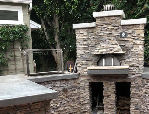 Outdoor Fireplace and BBQ
